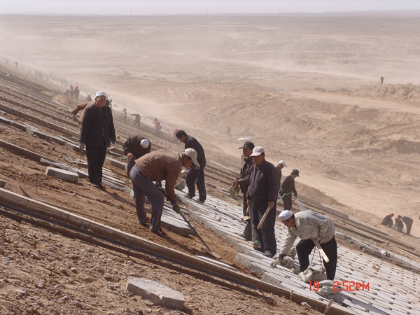 4.坝面砌护施工